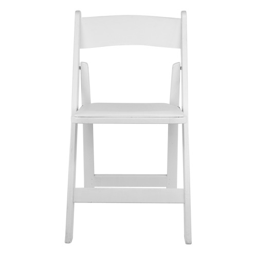 Classic White Wood Folding Chair