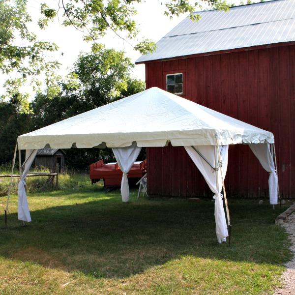 Frame Tent u2013 16u2032 x 16u2032 & Frame Tent - 16u0027 x 16u0027 - Au0026B Party Rental