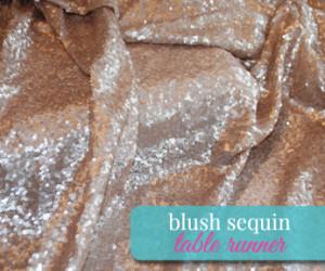 blush sequin table runner