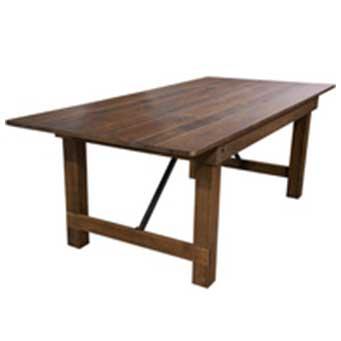 harvest table; farm table